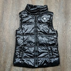 Black puffer Vest Chuck Taylor Converse Zip Up